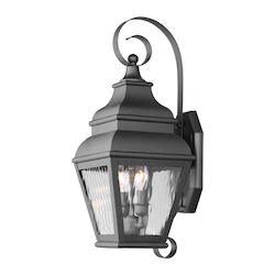 Livex Lighting Black Exeter Large Outdoor Wall Sconce With 2 Lights