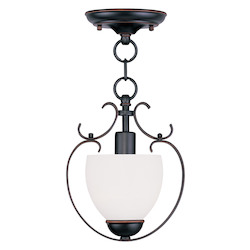 Livex Lighting Olde Bronze Open Frame Foyer Hall Fixture