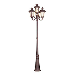 Livex Lighting Imperial Bronze Oxford 4 Light Outdoor Post Light With Post Included