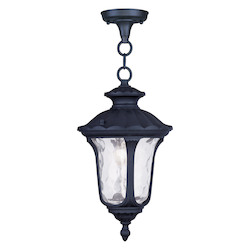 Livex Lighting Black Oxford 1 Light Outdoor Pendant