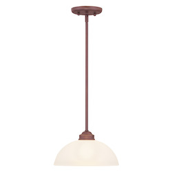 Livex Lighting Vintage Bronze Down Pendant