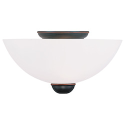 Livex Lighting Olde Bronze Bowl Semi-Flush Mount