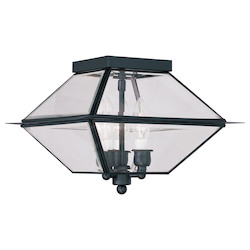 Livex Lighting Black Outdoor Flush Mount