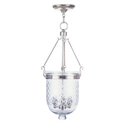 Livex Lighting Polished Nickel Foyer Hall Semi-Flush Mount