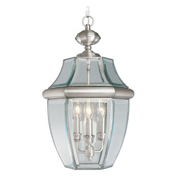 Livex Lighting Brushed Nickel Outdoor Foyer Hall Fixture