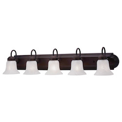 Livex Lighting Bronze Riviera 5 Light Bathroom Vanity Light