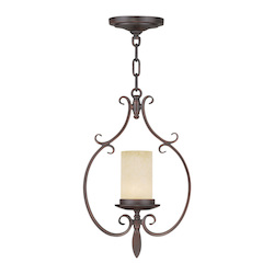 Livex Lighting Imperial Bronze Millburn Manor 1 Light Mini Pendant