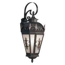 Livex Lighting Bronze Berkshire 3 Light Outdoor Wall Sconce