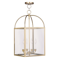 Livex Lighting Antique Brass 4 Light 240 Watt 12.75
