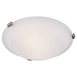 Livex Lighting Brushed Nickel Bowl Flush Mount
