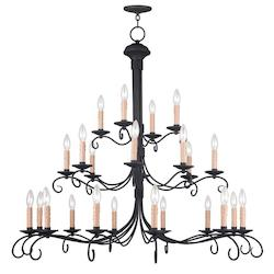 Livex Lighting Black Heritage 20 Light 3 Tier Chandelier