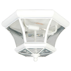Livex Lighting White Outdoor Flush Mount