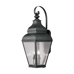 Livex Lighting Black Exeter Large Outdoor Wall Sconce With 4 Lights