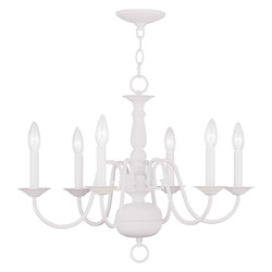 Livex Lighting White Up Chandelier
