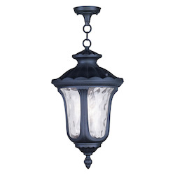 Livex Lighting Black Oxford 3 Light Outdoor Pendant