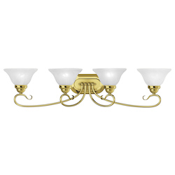 Livex Lighting Four Light Polished Brass Vanity