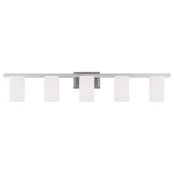 Livex Lighting Brushed Nickel Astoria 5 Light Bathroom Vanity Light