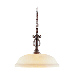Livex Lighting Imperial Bronze Down Pendant