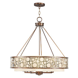 Livex Lighting Palacial Bronze Avalon 8 Light 1 Tier Chandelier