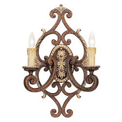 Livex Lighting Palacial Bronze Seville 2 Light Wall Sconce