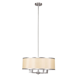 Livex Lighting Brushed Nickel Park Ridge 4 Light 1 Tier Chandelier