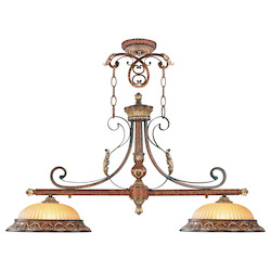 Livex Lighting Verona Bronze With Aged Gold Leaf Accents Island Light