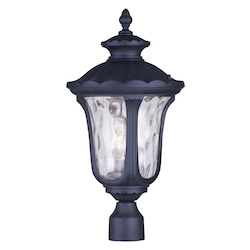 Livex Lighting Black Oxford 3 Light Outdoor Post Light
