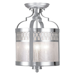 Livex Lighting Brushed Nickel Westfield 3 Light Semi-Flush Ceiling Fixture