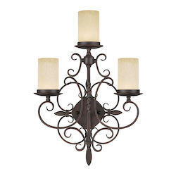 Livex Lighting Imperial Bronze Millburn Manor 3 Light Wall Sconce