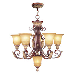 Livex Lighting Verona Bronze Villa Verona 5 Light 2 Tier Chandelier