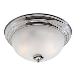 Livex Lighting Two Light Chrome Bowl Flush Mount