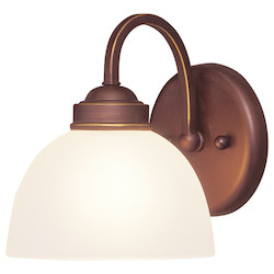 Livex Lighting Vintage Bronze Bathroom Sconce