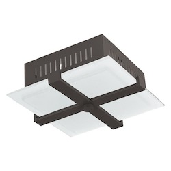 Livex Lighting Bronze Odyssey 2 Light Semi-Flush Ceiling Fixture