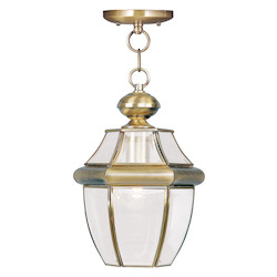 Livex Lighting Antique Brass Monterey 1 Light Outdoor Mini Pendant