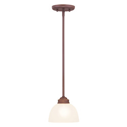 Livex Lighting Vintage Bronze Down Mini Pendant