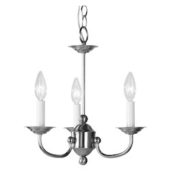Livex Lighting Brushed Nickel Up Chandelier