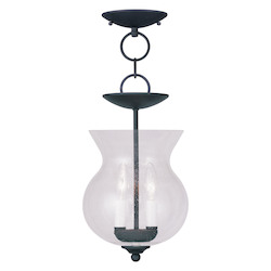 Livex Lighting Black Legacy Mini Pendant With 2 Lights