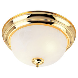 Livex Lighting Polished Brass Bowl Flush Mount