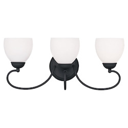 Livex Lighting Black Brookside Bathroom Vanity Bar With 3 Lights