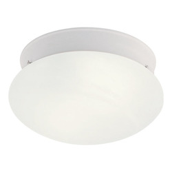 Livex Lighting One Light White Mushroom Flush Mount