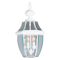 Livex Lighting White Outdoor Foyer Hall Fixture