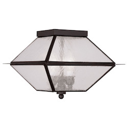 Livex Lighting Bronze Cage Flush Mount