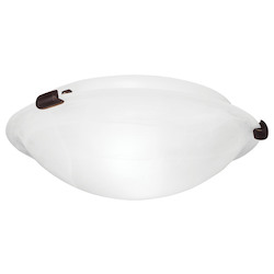 Livex Lighting Bronze Oasis 2 Light Flush Mount Ceiling Fixture