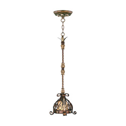 Livex Lighting Palacial Bronze With Gilded Accents Down Pendant