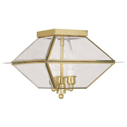 Livex Lighting Polished Brass Outdoor Flush Mount