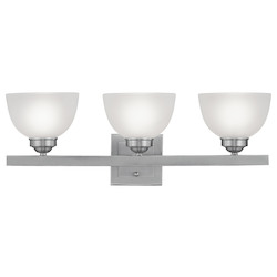 Livex Lighting Brushed Nickel 3 Light 300 Watt 24.75