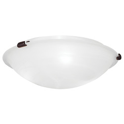 Livex Lighting Bronze Oasis 3 Light Flush Mount Ceiling Fixture