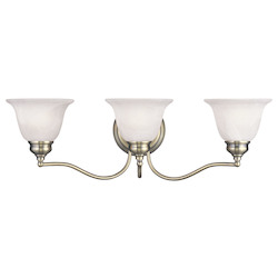 Livex Lighting Antique Brass Essex Bathroom Vanity Bar With 3 Lights