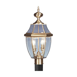 Livex Lighting Antique Brass Post Light
