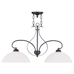 Livex Lighting Olde Bronze Island Light